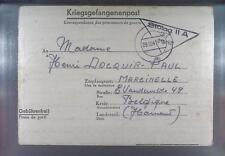 Camp Stalag IIA Neubrandenburg 1941 POW to Belgium Kriegsgefangenenpost L37