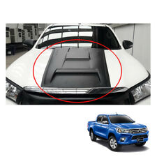 Bonnet Hood Scoop Cover Trim Matte Black To Toyota Hilux Revo 4WD 2WD 15 16 17