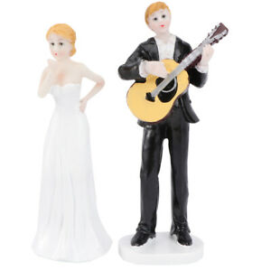 1pc Creative Romantic Cake Topper Bride and Groom Cake Topper for Figurine Gift