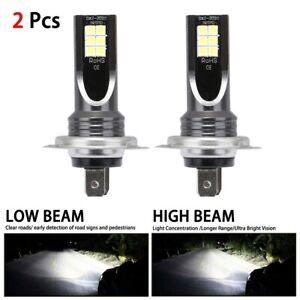 2X H7 LED Headlight Conversion 110W 30000LM 6000K Error Free Canbus Bulb Set !!