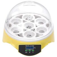 Digital Mini 7 Egg Incubator Clear Hatcher with Fan Poultry Chicken Duck Bird