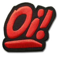 Oi! Street Punk Skinhead Patch Iron on Biker Bands Logo Heavy Metal Rock Music