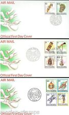 PAPUA NEW GUINEA DEFINITVE 1994 SCOTT#825/40 FIRST DAY COVERS