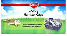 My First Home Hamster 2-Story Cage Purple 14 X10 IN, Gerbils, Mice Habitat