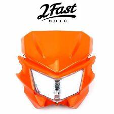 2FastMoto Acerbis Style Headlight Orange Enduro Offroad Motorcycle KTM
