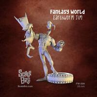 28 mm miniature Earthworm Jim Fantasy World resin kit