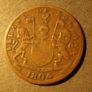 ISLAND OF SULTANA EAST INDIA 1 KEPING COIN DATED 1219 P (1804)