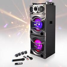 NEW Pyle PSUFM1038BT Bluetooth MP3/USB/SD/FM PA Speaker Karaoke System w/ Mic