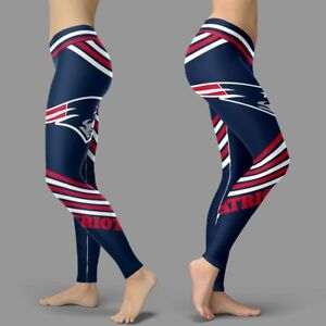 New England Patriots Football NFL Team Sports Pants Fitness Leggings For Fans