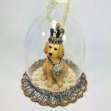 GoldenDoodle Cloche Hanging Figurine Ornament Dog Glass Demdaco Animals Hanging