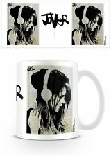 JOVER MELODIES SOLACE 11 OZ COFFEE MUG TEA CUP PRETTY WOMAN MUSIC HEADPHONES DJ!