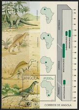 STAMPS-ANGOLA. 1994. Dinosaurs Miniature Sheet. SG: MS1065. Mint Never Hinged