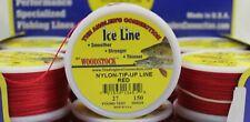 Woodstock Ice Fishing Tip-Up Line 27# Test 150Yd Spool Dark Red Braided Nylon