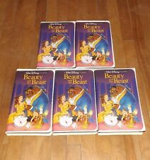 lot of 5 vhs Beauty and the Beast Walt Disney Black Diamond Classic stock #1325