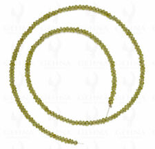 3 MM Peridot Gemstone Round Faceted Bead String NS1289