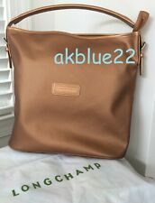 NWT LONGCHAMP Derby Hobo Bucket Tote Bag Copper LOGO FRANCE Metallic Bronze NEW