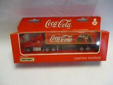 "Matchbox Convoy CY29 Mack Box Truck- red ""Coca Cola"" Santa Claus, boxed"