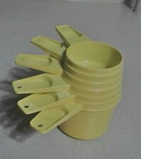 TUPPERWARE Vintage Complete Set of 6 Yellow Nesting Measuring Cups # 761 - 766