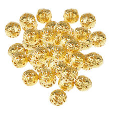 100x Gold Decorative Beads for Craft Loose Spacer Beads DIY Accessories 8mm