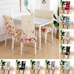 Dining Chair Seat Covers Slip Stretch Wedding Banquet Party  Ornament Removable