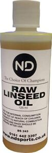 Cricket Bat RAW Linseed Oil Wooden Repair Protection Face Blade 100ml Top Seller