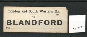 London & South Western Railway LSWR - Luggage Label (1740) Blandford