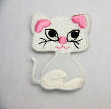 PRETTY KITTY CAT KITTEN 5cm Embroidered Iron Sew On Cloth Patch Badge APPLIQUE