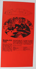 Alfa Romeo Modèle 512 1940 Oldtimer Original Prospekt Werbung 5.1 1848 DL15