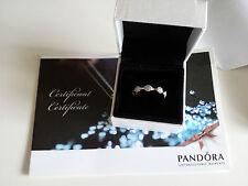 PANDORA Bague or blanc Eight Pods pavés diamants réf.970123WD