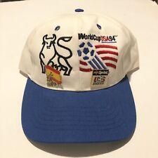 Vintage World Cup 94' USA Soccer Hat Snapback Men's One Size 90s w Pins RARE Gem