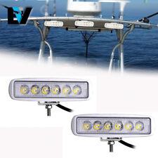 2X Super Bright Spreader Light Deck/Marine LED Work  Lights for Boat (White)
