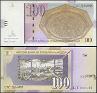 MACEDONIA BILLETE 100 DENARI. 2008 LUJO. Cat# P.16i