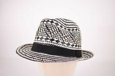 Wigens NWT Trilby Hat in Black and White Size L, 59, 7 & 3/8ths