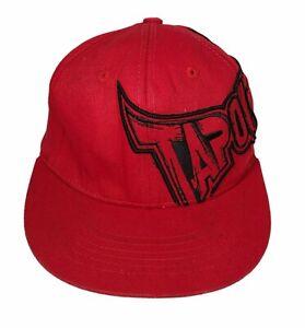 TAPOUT UFC MMA Red w/ Black Logo Tek Flex Size L/XL Hat Cap