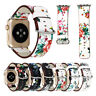 Leather Band Strap 38mm/42mm For Apple Watch Series 3 2 1 Vintage Floral Printed