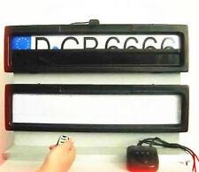 2x matrícula soporte soporte de matrícula de 12v con persiana Up & Down eléctricas set
