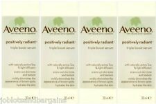 4 x 30ml Aveeno Positively Radiant Triple Boost Serum (Exp Date: 05/2015)