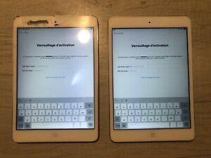 Lot de 2 Ipad mini 2 Bloqués Icloud
