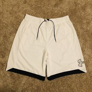 Under Armour Loose Heat Gear White Shorts Men's Size 2XL