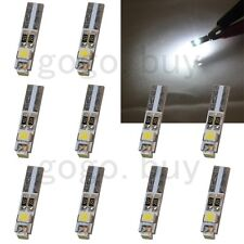 10 x White 6000K 58 70 73 74 T5 Dashboard Gauge 3 3528 SMD LED Wedge Bulb Light