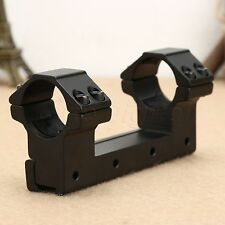 "25.4mm 1"" High Profile Dual Scope Rifle Mount Ring 11mm Dovetail Rail One Piece"