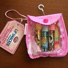 New Gift Pack 3 Disney Princess Lip Smacker - Belle Cinderella Snow Balm Gloss