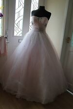 Stunning Baby Pink & Crystals, Mori Lee, Bride,Prom, Bridesmaid Dress Size 8
