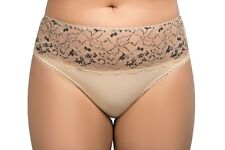 Ladies Size 26-28 Designer Bikini Knickers Panties Luxury Briefs Natural