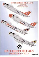 Modello di decalcomanie Alliance 1/48 F-86 Sabres parte 2. RAAF # 48125