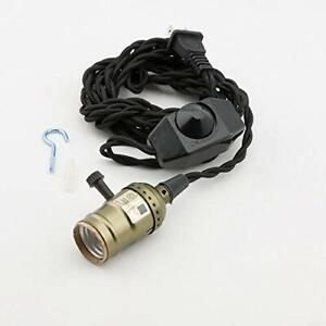 Fantado Single Copper Socket Vintage-Style Pendant Light Cord w/ Dimmer, 11 F...