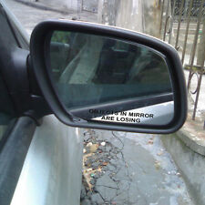 2* OBJECTS IN MIRROR ARE LOSING Rearview Creative Vinyl Reflective Car Sticker