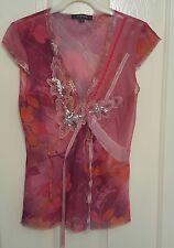 Ladies Pink Vintage River Island Top Size 10