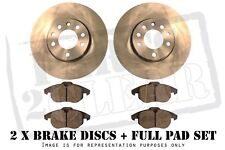 PEUGEOT BIPPER QUALITY FRONT BRAKE DISCS AND PADS WITH WEAR LEAD SENSORS