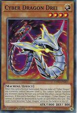 YU-GI-OH CARD: CYBER DRAGON DREI - LEDD-ENB03 - 1ST EDITION